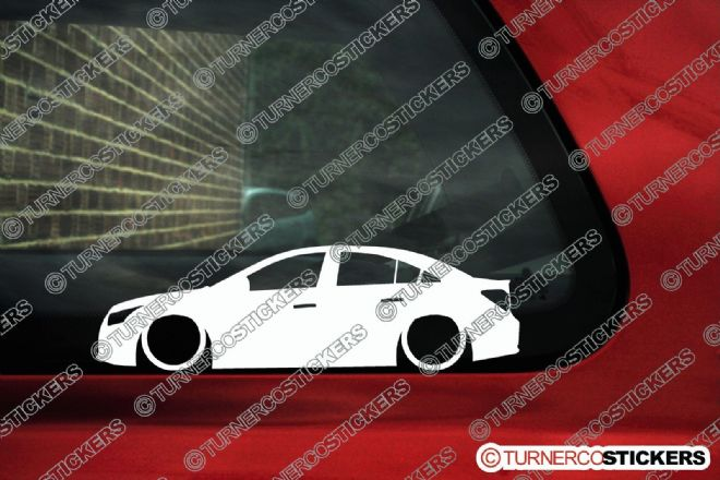 2x Low car outline stickers - for Chevrolet Cruze sedan 2008+